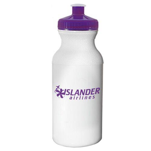 100 Custom USA Made BPA Free Bike 20 oz Sports Water Bottle Printed w// Logo //Txt
