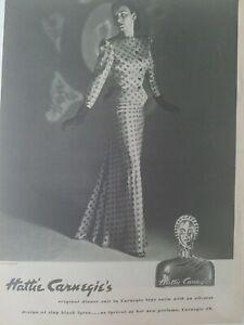 1944-Hattie-Carnegie-Donna-Cena-Suit-Profumo-Bottiglia-Vintage-Moda-Ad