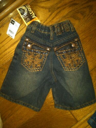 NWT TODDLER BOYS CALDORE BLUE JEAN SHORTS STUDDED BACK POCKETS SIZE 2T CUTE!