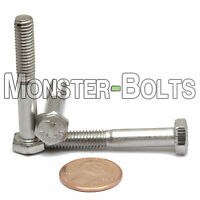 M6-1.0 X 40mm - Qty 10 - Din 931 Hex Cap Bolt / Screw - Stainless Steel A2-70