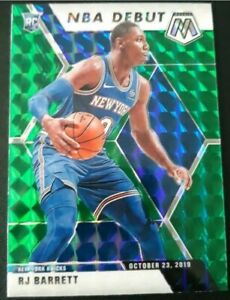 2019-20-RJ-Barrett-Panini-Mosaic-Green-Prizm-NBA-Debut-270-NY-Knicks