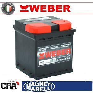 Batteria-WEBER-Magneti-Marelli-per-auto-W60ND-60Ah-12V-450A-PRONTA-ALL-USO