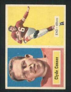 1957-Topps-78-Clyde-Conner-NM-NM-RC-Rookie-49ers-76637