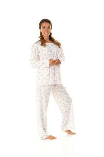 57468 Ladies COSY ROSE PRINT  CLASSIC CUDDLEKNIT ROUND NECK winter PYJAMA //XXL