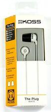 185331  KOSS The Plug In-Ear Headphones (White), Comfort Memory foam Ear cushion