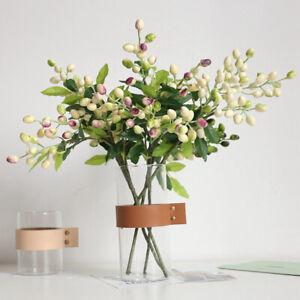 Am-1Pc-Artificial-Berry-Leaf-Plant-Home-Garden-Office-Desktop-Flower-Decor-Eyef