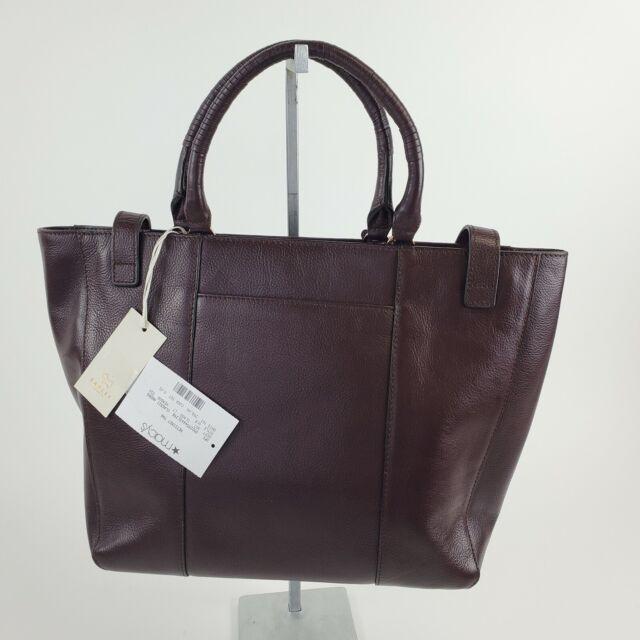 Leather Small Dog Tag Handbag Charm