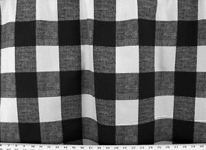 Drapery Upholstery Fabric 100 Cotton Large Plaid Check Colors
