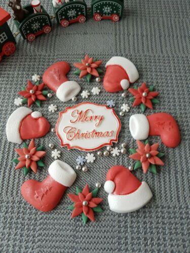 Lot de comestibles sucre Noël Gâteau Décoration À faire soi-même