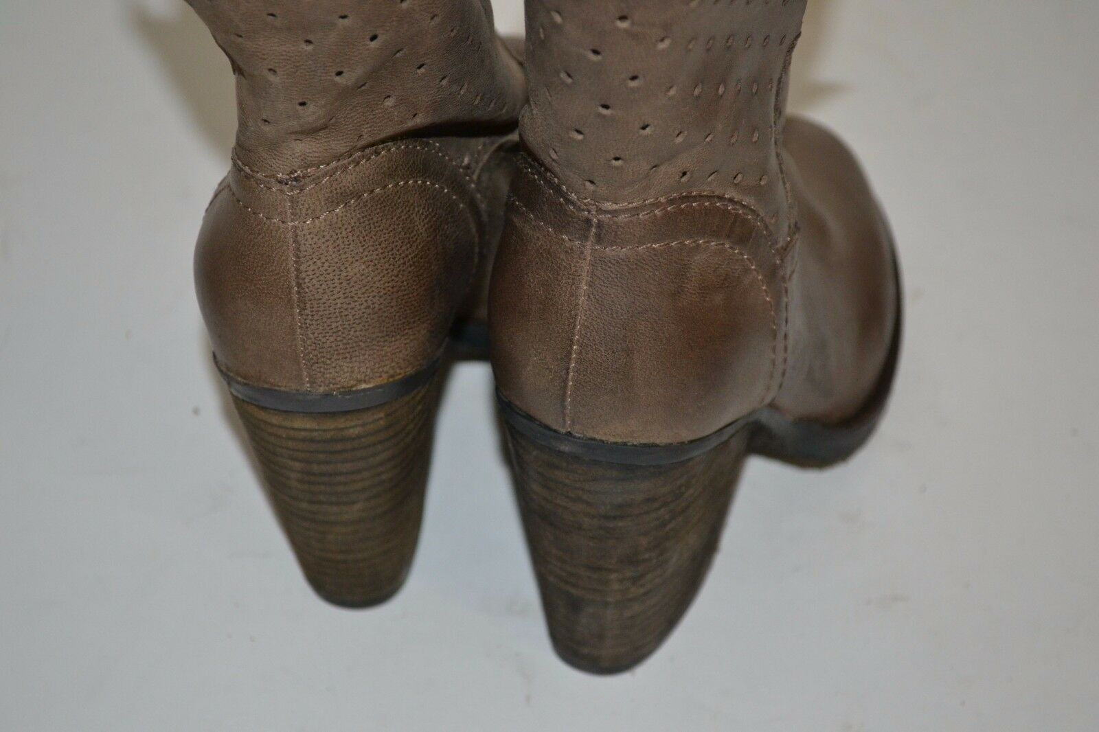 Steven Steve Madden Kobrra Mujer Cuero Cuero Cuero Moda botas al Tobillo Marrón Topo Talla 6  169 d095e9