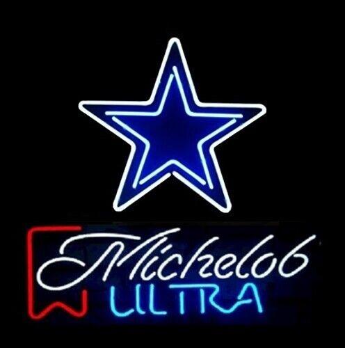 "New Dallas Cowboys Michelob Ultra Neon Light Sign 24\""x20"