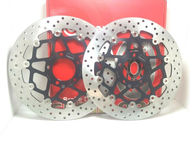 78B75 Pair Brake Discs Anter Floating Brembo Suzuki Gsx-R 750 2000 2001