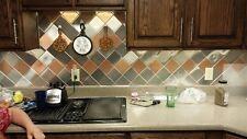 24 Decorative Self Adhesive Kitchen Metal Wall Tiles 3 sq ft.