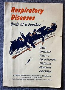 1940s RESPIRATORY DISEASES Birds of Feather COLDS ...