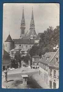 Yugoslavia Croatia Vintage Postcard Zagreb Cathedral 1957 Ebay