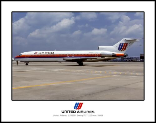 United Airlines Boeing 727 11x14 Photo I043RGWW11X14