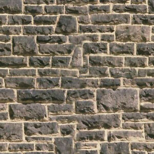 ! 5 SHEETS EMBOSSED BUMPY BRICK stone wall 21x29cm SCALE 1/12 CODE byy7