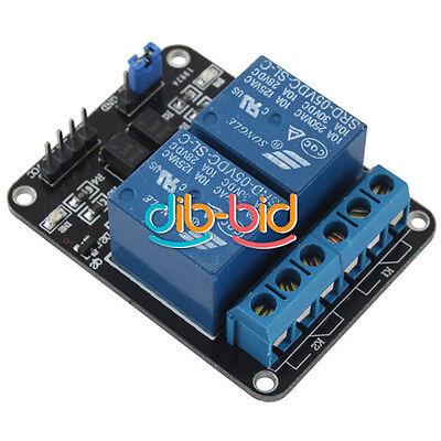 5V 2-Canal De Relais Bouclier Module Pour Arduino ARM PIC AVR DSP 10A EB