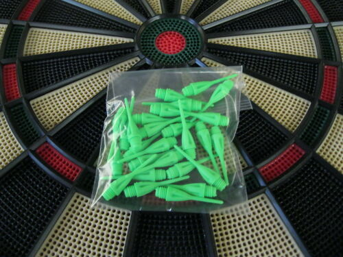 """25 NEW GREEN Dimpled DART TIPS for All Electronic Dart Boards 1//4/"""" Thread"""