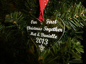 Personalised-HEART-Tree-Decoration-Bauble-First-Christmas-Together-Gift