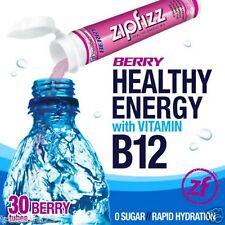Zipfizz Healthy Energy Drink Mix Berry 30 Tubes NO SALES TAX