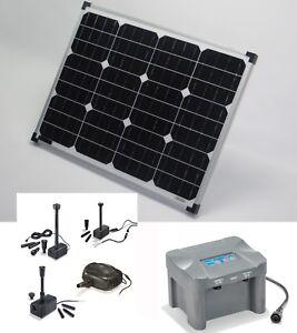 50 Watt Pompe solaire batterie de bassin Fontaine jardin | eBay