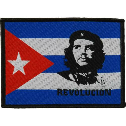 "Woven Sew On Patch 3/"" x 4/"" Che Guevara Revolution"
