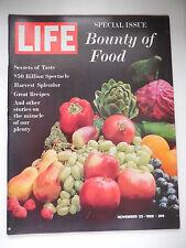 LIFE MAGAZINE NOVEMBER 23, 1962 BOUNTY OF FOOD