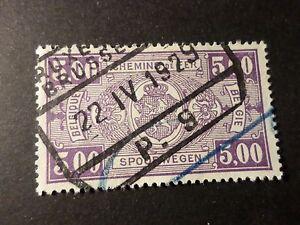 Belgien-1923-31-Briefmarke-Paket-Post-157-Zuege-Entwertet-Parzelle
