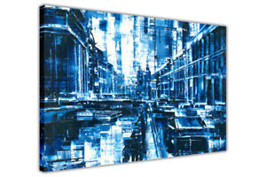 Beautiful-Abstract-City-on-Framed-Canvas-Wall-Art-Prints-Home-Decor-Pictures