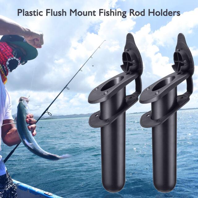 2 Flush Mount Fishing Rod Holder Kayak Canoe Boat Side Tackle w Gasket/&Screw
