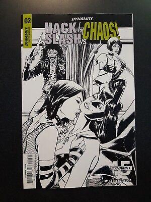 HACK SLASH VS CHAOS #3 1:40 Kyle Hotz B/&W Variant Dynamite Comic Book NM 2019