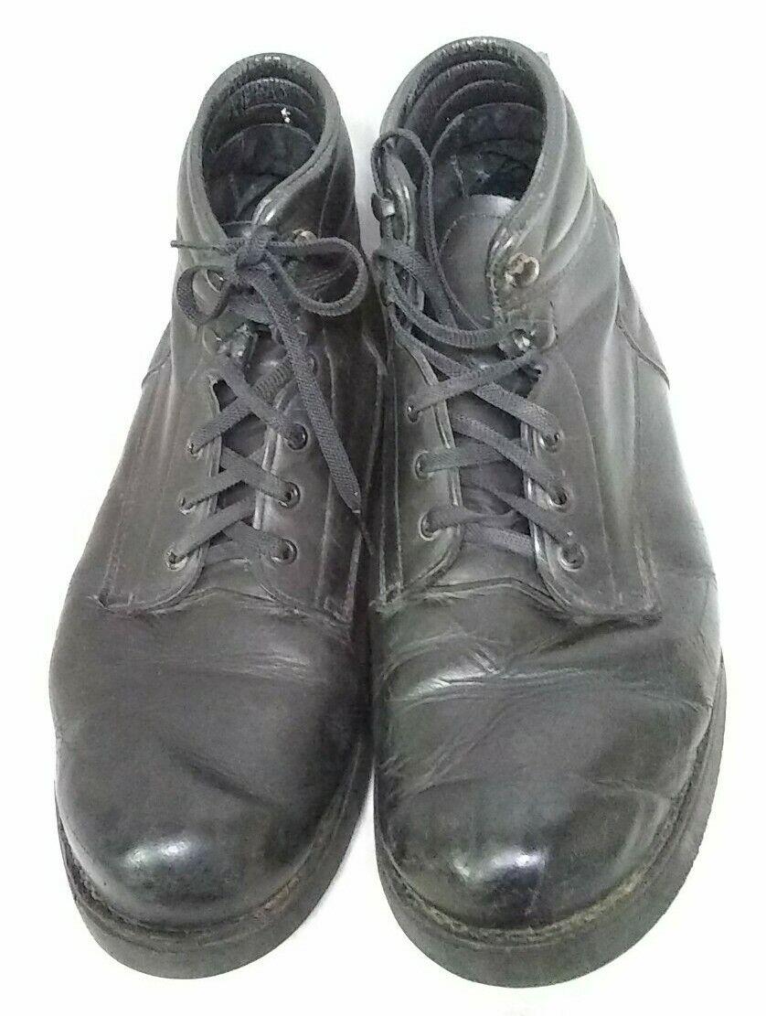 Mens 198055 Vibram Soft Leather Black Cushion Ankle Size 12 5EEEEE