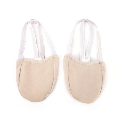 Half Puleather Sole Ballet Pointe Dance Shoes Rhythmic Gymnastics Slippers KW