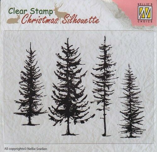 Motivstempel Clearstamps pine tree Baum Bäume Tanne DIY Nellie Snellen CSIL004