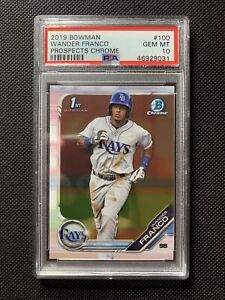 2019 Bowman Chrome Prospects Wander Franco ROOKIE RC #100 PSA 10 RAYS! INVEST!