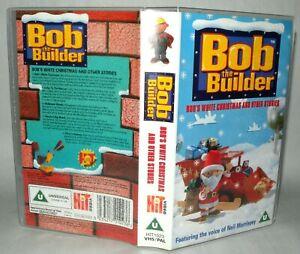 Bob-The-Builder-Bobs-White-Christmas-Children-039-s-VHS-Tape-amp-Case-VHS