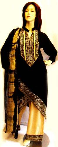 salwar sari Eid nero designer abito Kameez Tailandese Shalwar pakistano patiala 16 qwtz6c8Fx