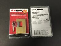 Ace Hardware 3in. 75mm Jimmy Proof Solid Brass Lock W/2 Keys 5505177
