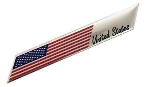 Aufkleber-USA-Amerika-Metall-selbstklebend-3D-Schriftzug-Flagge-Logo-Auf-Kleber