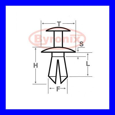 MINI Mollette Griglia SUPERIORE PARAURTI ANTERIORE GRILL COOPER S D ONE SD R56 R57 R58 R59 x 10