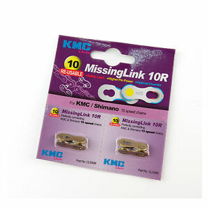 KMC-CL559R-Missing-Link-10R-for-Bike-Bicycle-KMC-SHIMANO-10-Speed-Chain-Gold