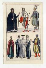 Trachten-Völker-Asien-Asiaten-Ethnologie -  Kupferstich 1800
