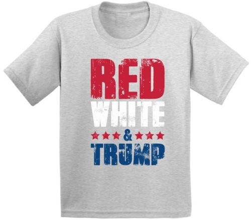 Red White /& Trump Youth Shirt Kids 4th of July Tshirt Trump Gifts Patriots Shirt