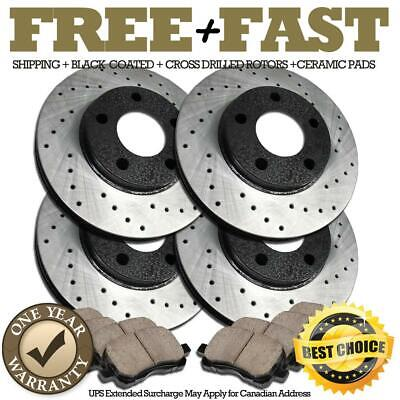 Pads For 1998 1999 2000 2001 2002 Accord Front Brake Calipers And Black Rotors