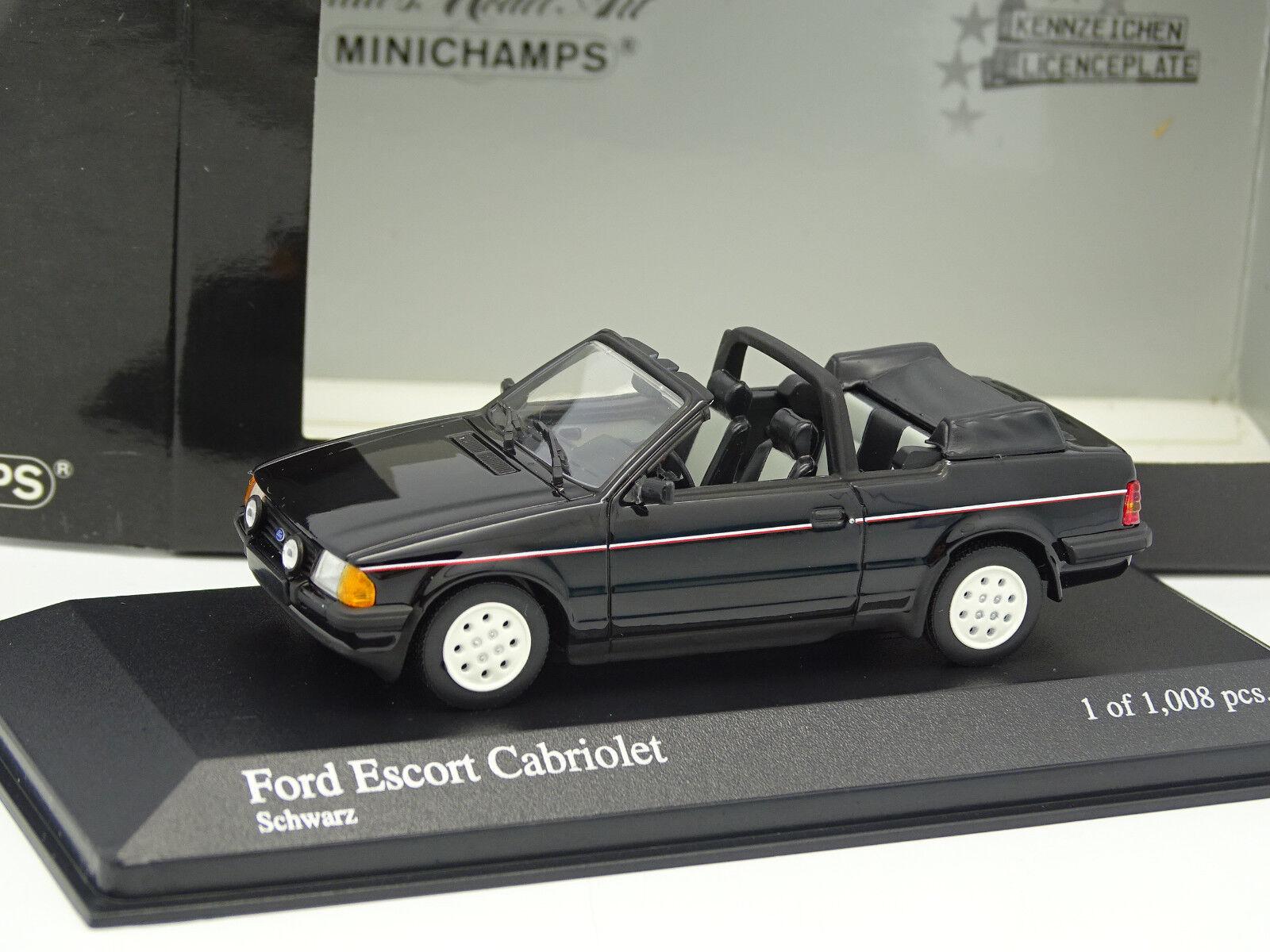 Minichamps 1 43 - Ford Escort Cabriolet Noire
