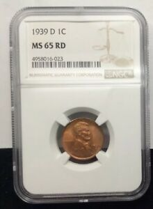 Lincoln Wheat (1909-1958) Coins: US 1939-D Lincoln Wheat Cent-NGC MS65 RED Quantity Of 3 Available