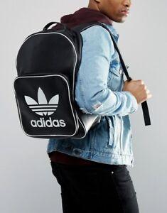 Image is loading Adidas-Originals-Classic-Trefoil-Backpack-Vintage-Rucksack -Bag-
