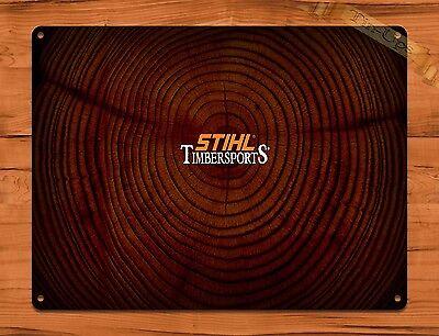 "STIHL Chainsaws Outdoor Equipment Tree Cutting Rustic Retro Metal Sign 12/"" x 8/"""