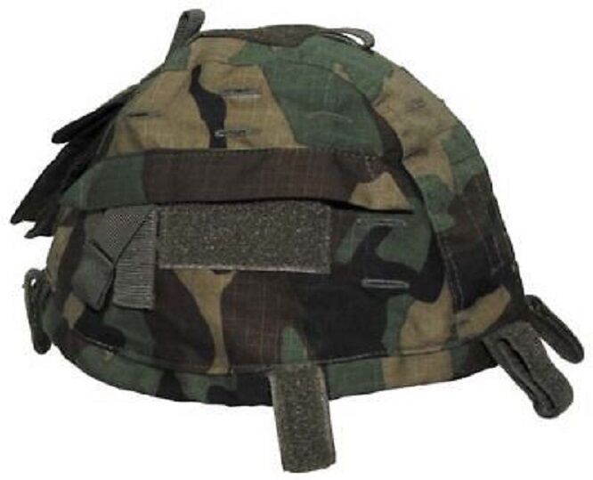 Casque Capot Army Army Army Casque Tête casquée Cover référence poches Woodland Camouflage f9af25